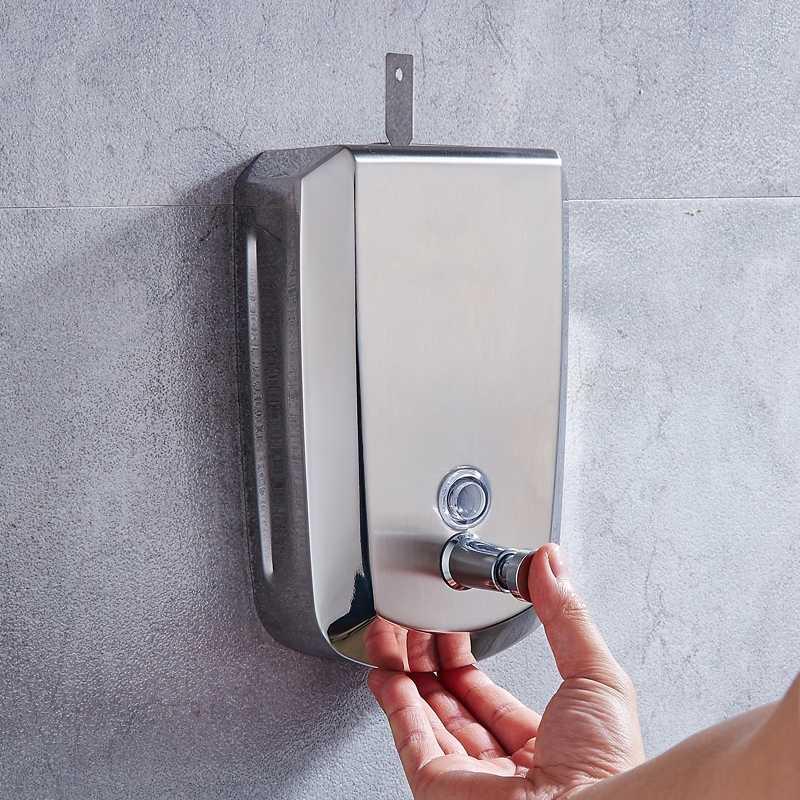 Mieszalnik ze stali nierdzewnej dozownik mydła w płynie do montażu na ścianie 500 ml toaleta prysznic płyn do mycia rąk pojemnik 1000 ml akcesoria łazienkowe