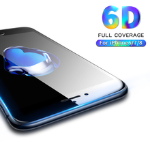 6D Full Cover Tempered Glass for iPhone 8 glass iphone Screen Protector For 6 6s 7 Plus film 9H