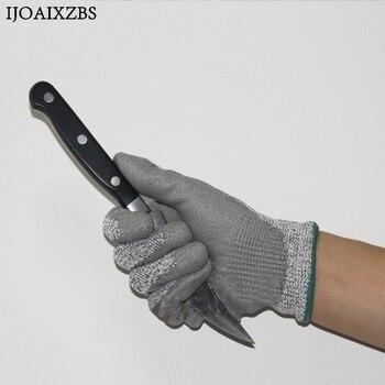 Wysokiej jakości pracy rękawice ochronne odporne na przecięcie i anty rękawice ochronne na ścieranie HHPE + PU rękawice antyprzecięciowe poziom 5
