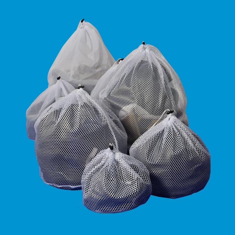 Drawstring Laundry Bag Washing Machine Special Laundry Net Bag Household Cleaning Washing Machine Mesh Holder Bags