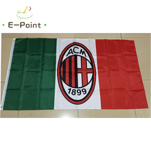 Italy AC Milan 3ft*5ft (90*150cm) Size Christmas Decorations for Home Flag Banner Type B Gifts