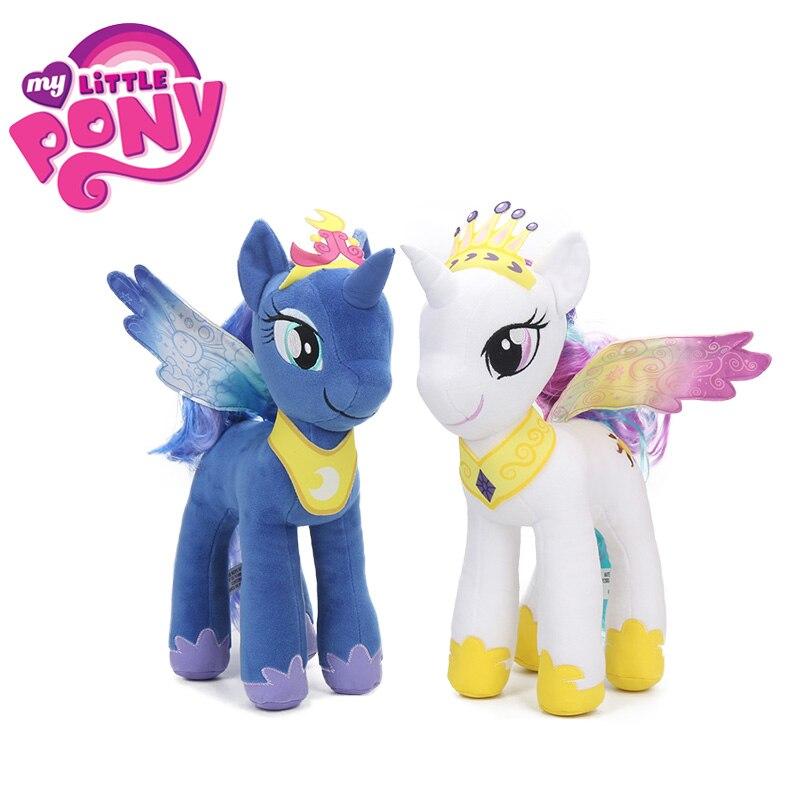 2018 32 см My Little Pony Плюшевые игрушки Дружба это волшебная Принцесса Селестия принцесса Луна коллекция куклы подарок на день рождения для девоч...