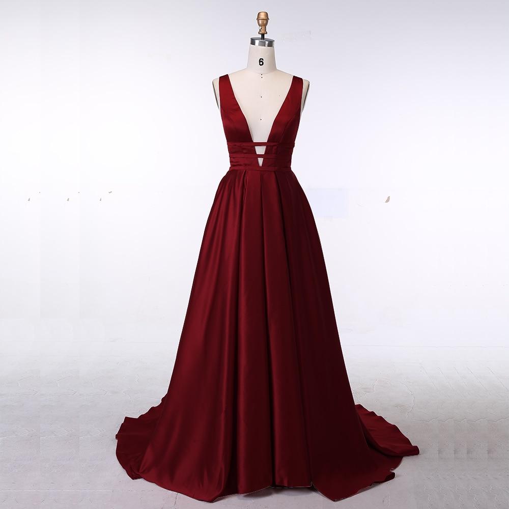 Sexy Red Evening Dress Elegant Satin Gown online