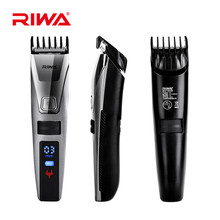 Hot 2017 RIWA Waterproof Hair Trimmer LCD Display Cool Men's Hair Clipper Rechargeable with Comb Design K3 Black Trimmers S4243