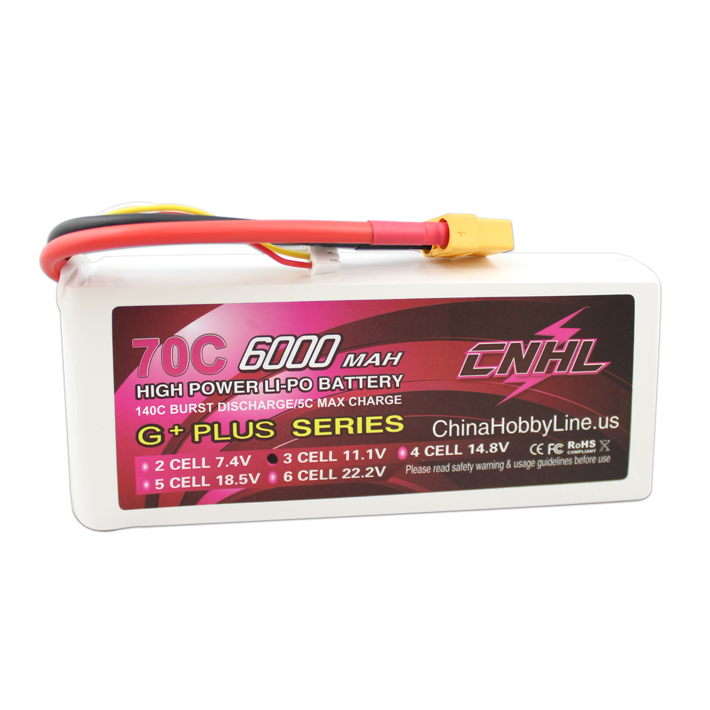 CNHL G PLUS LI PO 6000mAh 11 1V 70C Max 140C 3S Lipo Battery Pack for