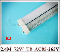 FA8 Single Pin LED Tube Light Lamp Double Row V Shape T8 2400mm 2 4M