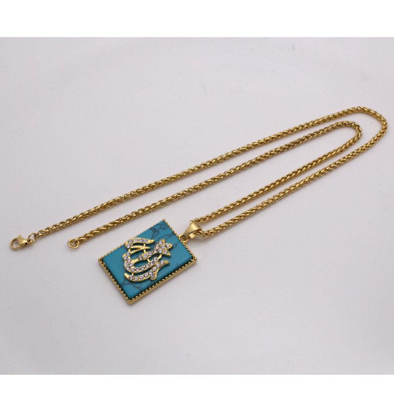 muslim Allah   pendant & necklace , charm crystal Islam Gift & Jewelry   Arab God  pendant
