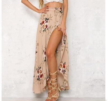 Fastbohemian Skirt Long Casual Summer Lady 2colors Fedex Print 30pcs/Lot