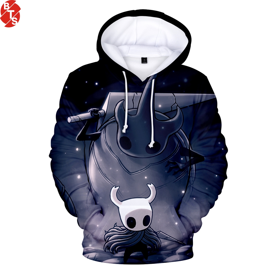 Hollow Knight 3D Printed Hoodies Women/Men Fashion Long Sleeve Streetwear Hooded Sweatshirts 2019 Casual Streetwear Hoodies