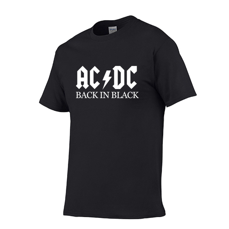 AC/DC Band Rock harajuku T-Shirt Men/Women ACDC BLACK Letter Printed Graphic Tshirts Hip Hop Rap Music Short Sleeve Tops Tee
