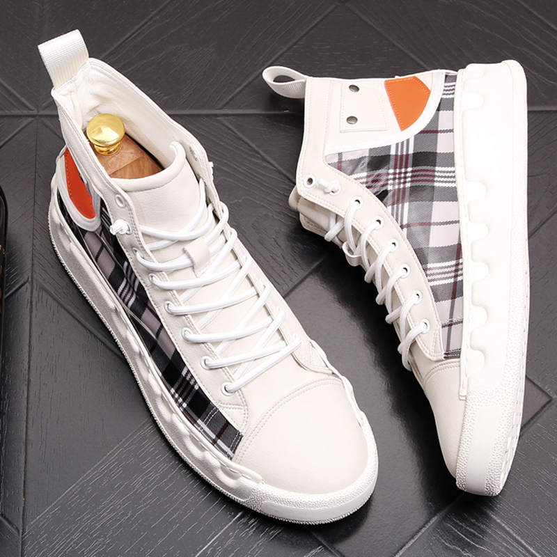 Stephoes Luxury Brand Men Casual Ankle Boots Spring Autumn High Top Men's Vulcanize Comfortable Sneakers Walking Leisure Shoes-in Men's Casual Shoes from Shoes on Aliexpress.com | Alibaba Group 41