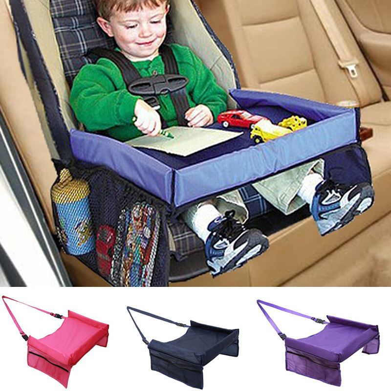 Waterproof Table Car Seat Tray Storage Kids Seat Infant Stroller Holder For Children Dining And Drink Baby Rattles Booster Seats