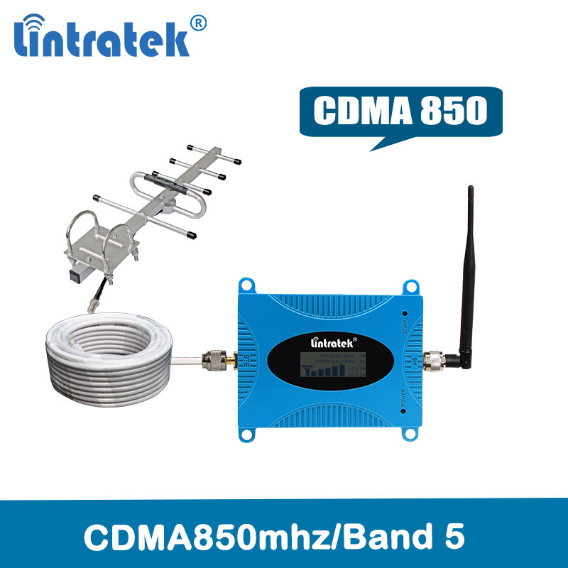 Lintratek signal <font><b>repetidor</b></font> <font><b>850</b></font> <font><b>mhz</b></font> <font><b>repetidor</b></font> <font><b>de</b></font> <font><b>sinal</b></font> <font><b>de</b></font> <font><b>celular</b></font> CDMA850 <font><b>celular</b></font> repeater (LTE Band 5)2g 3g signal booster kit image