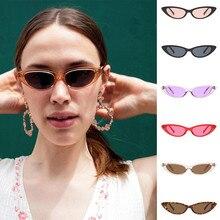457ce933e4e36 Senhoras Forma Oval Óculos De Sol Das Mulheres Pequeno Quadro Eyewears Moda  Cor da lente dos