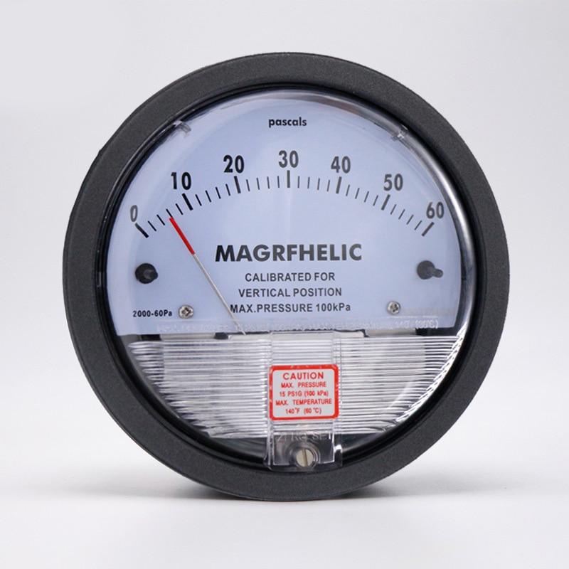 TE2000 0 60pa Micro Differential Pressure Gauge High Precision 1/8 NPT Air Pressure Meter Barometer