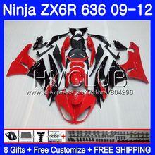 Средства ухода за кожей для KAWASAKI NINJA ZX636 ZX-6R ZX6R 09, 10, 11, 12, 15HM. 17 красный черный ZX 636 600CC ZX-636 ZX 6R 2009 2010 2011 2012 обтекатель