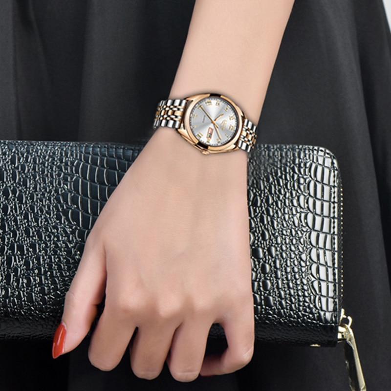 LIGE Fashion Women Watches Ladies Top Brand luxury Waterproof Gold Quartz Watch Women Stainless Steel Date Wear Gift Clock 2019 4
