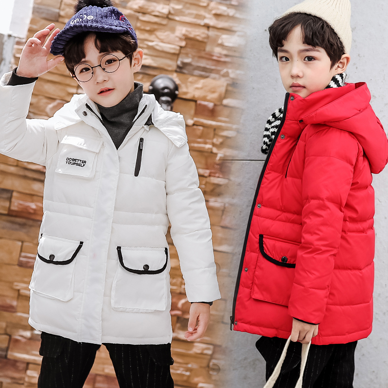 Winter Boys Down Parkas Jackets Teenager Childrens Warm Thickening Duck Down Coats Girls Outerwear -30 degree 110-160 CM 8009Winter Boys Down Parkas Jackets Teenager Childrens Warm Thickening Duck Down Coats Girls Outerwear -30 degree 110-160 CM 8009