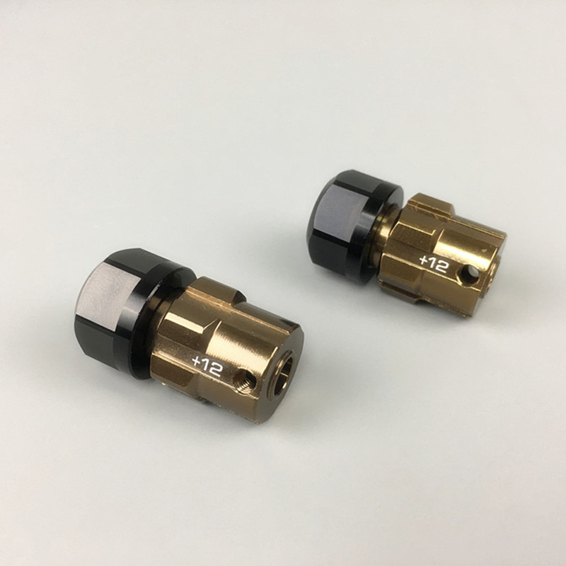1Pair Aluminum Alloy 17mm Combiner Adapter Widen 12mm/6mm Spare Parts Suitable for 1/10 RC Model Cars Traxxas Maxx Revo Summit 2pcs traxxas original 1 5 x maxx tires wheels tire tyre for 1 5 traxxas x maxx rc monster truck model 7772