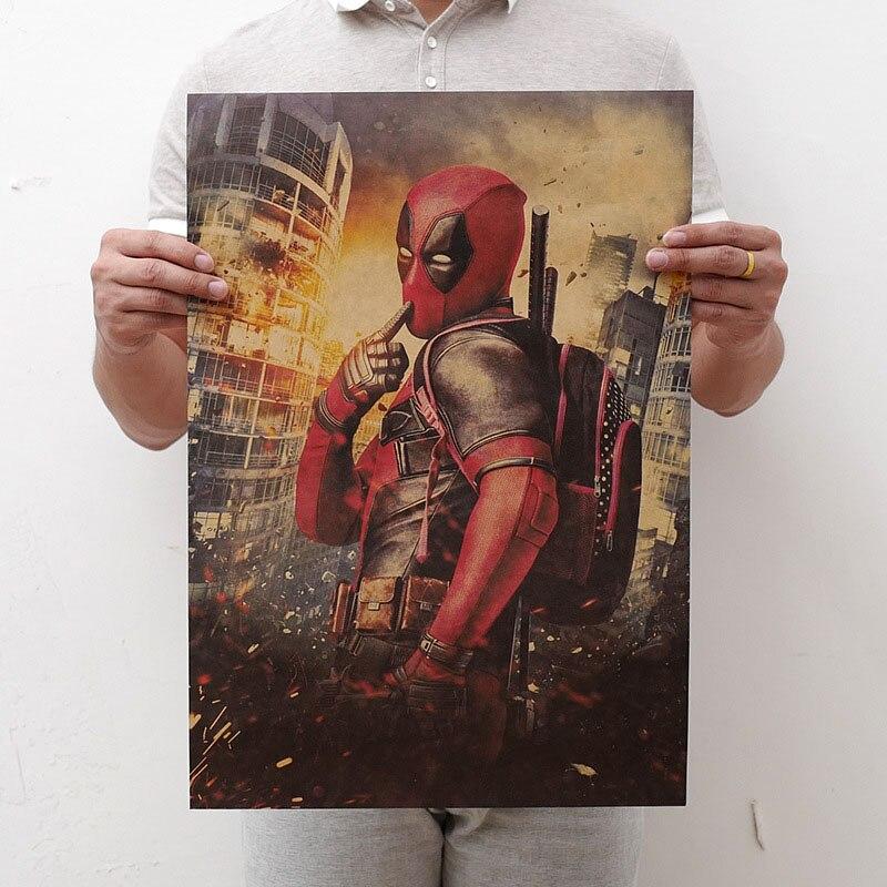 Mling 1 шт., 51,5x36 см, постер из серии Marvel, Мстители, война бесконечности, Ретро плакат, наклейки на стену для гостиной, украшение для дома - Цвет: H15