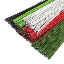 CCINEE 50 шт.#26 бумажная проволока 0,45 мм/0,0177 дюйма Диаметр 40 см длинная железная проволока используется для DIY нейлоновых чулок для изготовления цветов