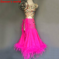 New Arrival Latin Dance Dress Women Long Sleeves Salsa Samba Tango Ballroom Competition Costume Lady Practise