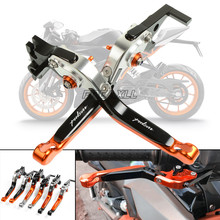 CNC Aluminum Motorbike Motorcycle Brake Clutch Levers Foldable For KTM RC8 RC8R RC200 RC390 RC125 RC 8 8R 200 390 125
