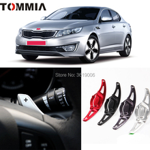 tommia 2pcs Steering Wheel Aluminum Shift Paddle Shifter Extension For KIA K5 2011-2012 Car-styling