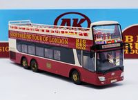Rare Alloy Model 1:43 Ankai Double Decker Big Bus Sightseeing Tour of London Olympic Diecast Toy Model For Collect,Decoration