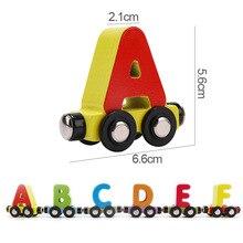 Купить с кэшбэком Baby Toys Kids Trailer Wooden Train Vehicle Blocks Geometry Colour Congnitive Blocks Child Education Birthday Christmas Gift