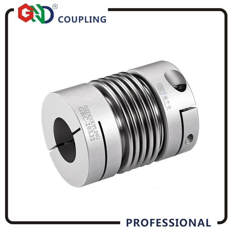 GND coupling metal shaft high torque motor generator bellows servo motor spring quick-bellow aluminum alloy camlock coupler d40mm setscrew hard alloy flex metal bellow coupling