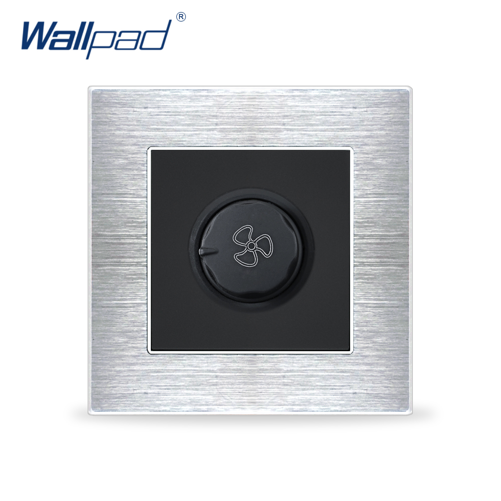Fan Switch Speed Regulator Wallpad Luxury Wall Light Switch Satin Metal Panel Knob Switches Interrupteur tosoku magnification machine tool band switch 03l dpn03010l20r 03l dpn03 010l20r cnc panel knob switch