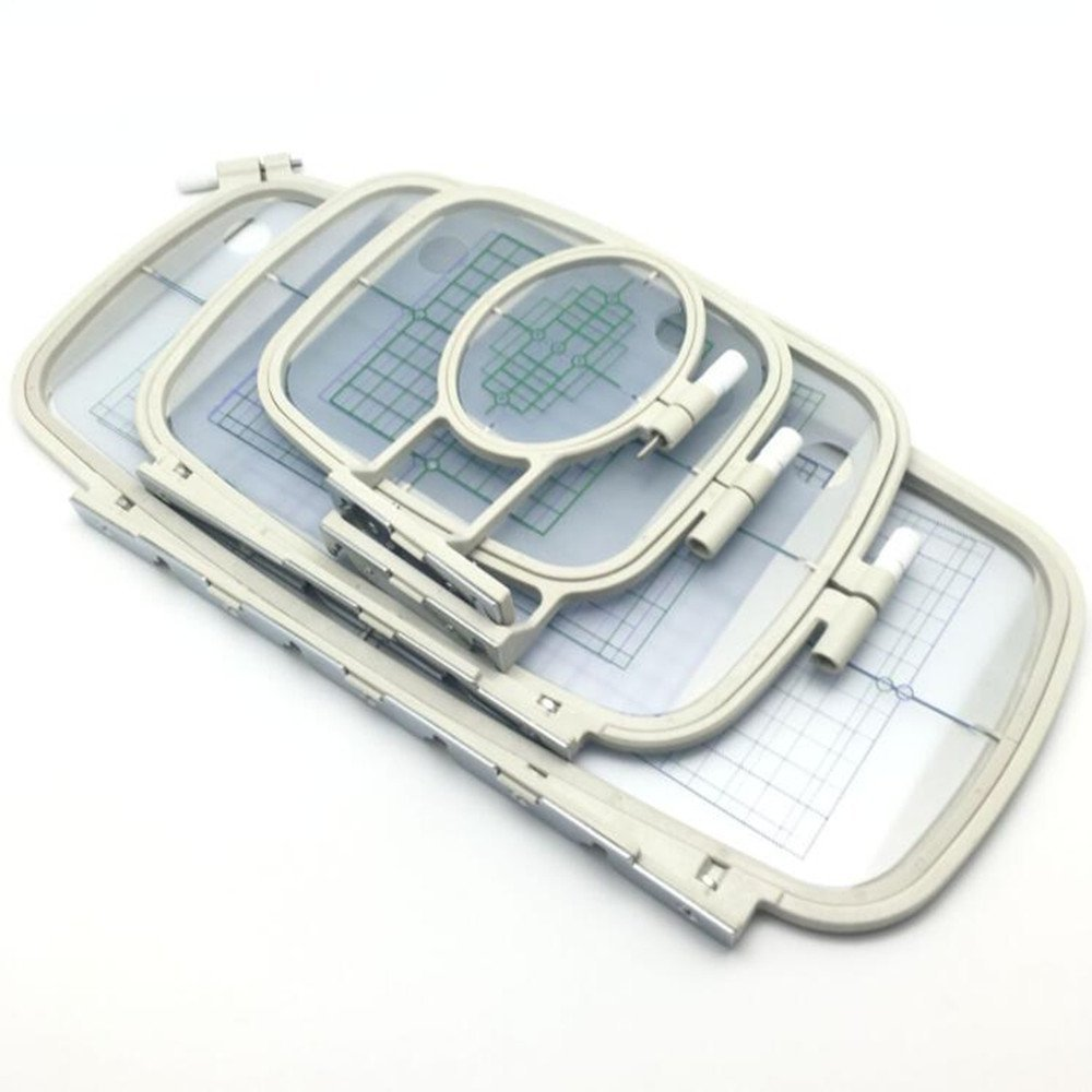4Pcs Sewing Embroidery Machine Hoops Set frame for brother PE 700 PE 700II PE 750D PE