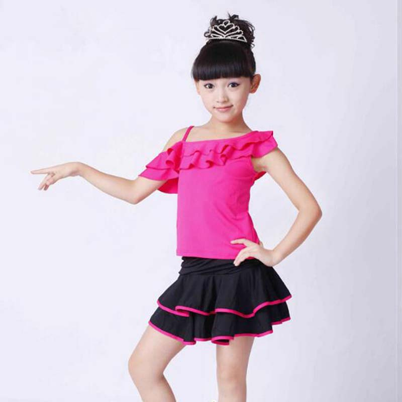 Kids Ballroom Dance latin dance dress for kids latin dance abiti ballo latino bambina children professional Girl latin dress