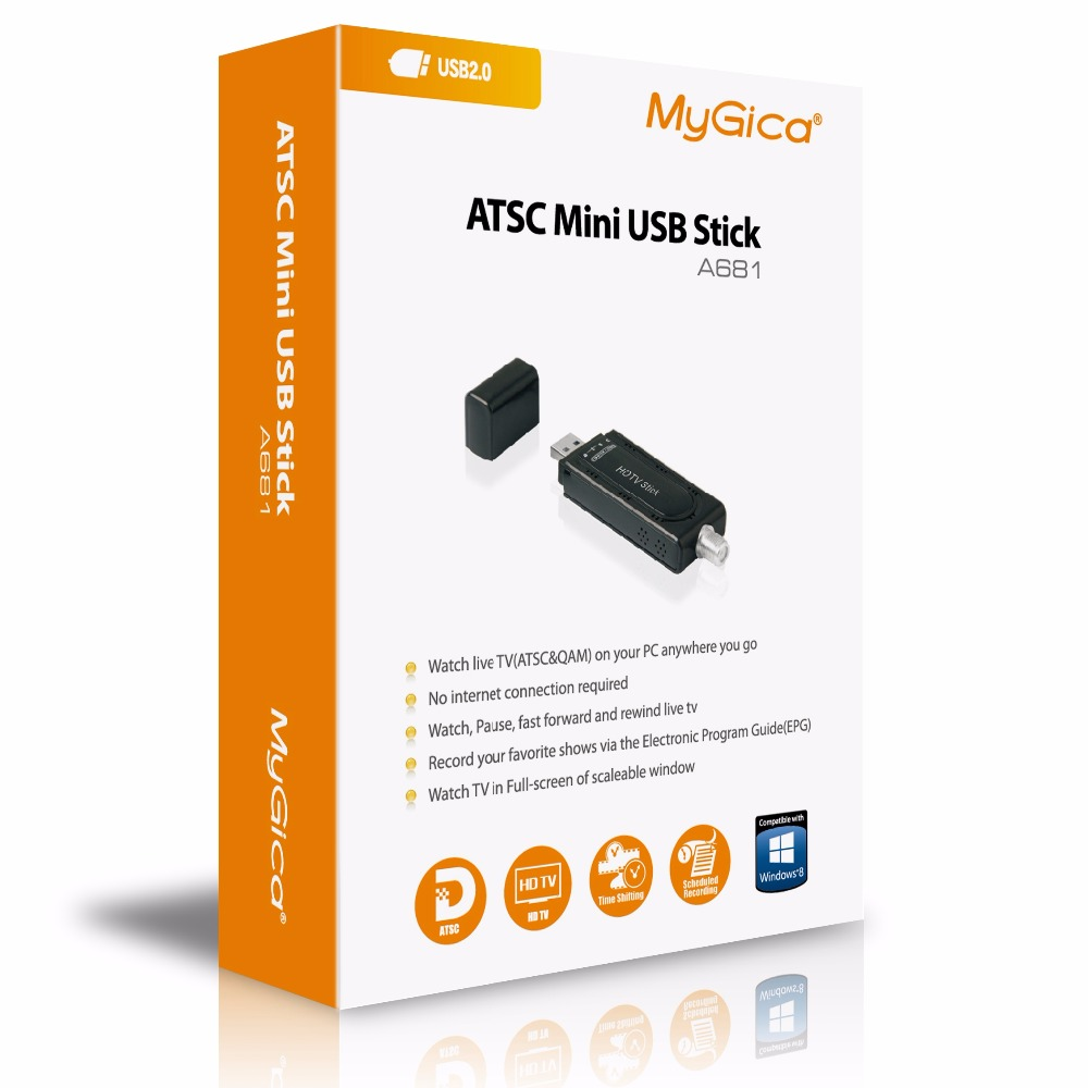 GENIATECH Mygica ATSC USB TV Stick A681 HD TV tuner for United States, Canada, South Korea, Mexico-in TV Stick from Consumer Electronics    1