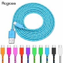 Cable USB tipo C para móvil, Cable de carga rápida para Samsung Galaxy S9, Oneplus 6t, sincronización de datos, Xiaomi Redmi Note 7, Mi 9, tipo C