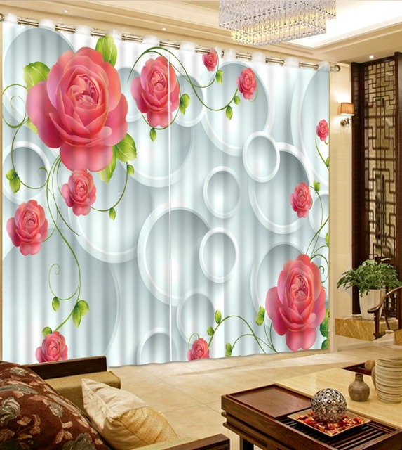 3d Vorhange Foto Anpassen Grosse Fenster Vorhange Fur Wohnzimmer Rosa