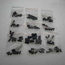 12valuesX10pcs = 120 шт., 0.22 мкФ-470 мкФ Алюминий электролитические конденсаторы Ассорти комплект, 30154