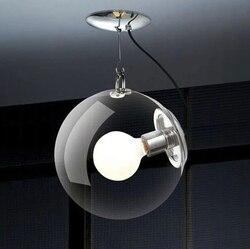 Darmowa wysyłka nowoczesna szklana lampa wisząca szklana lampa z efektem bąbelków do salonu korytarz E27 oprawa AC 110V-220V AC
