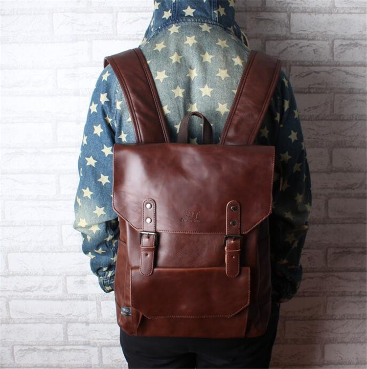 men leather backpack02