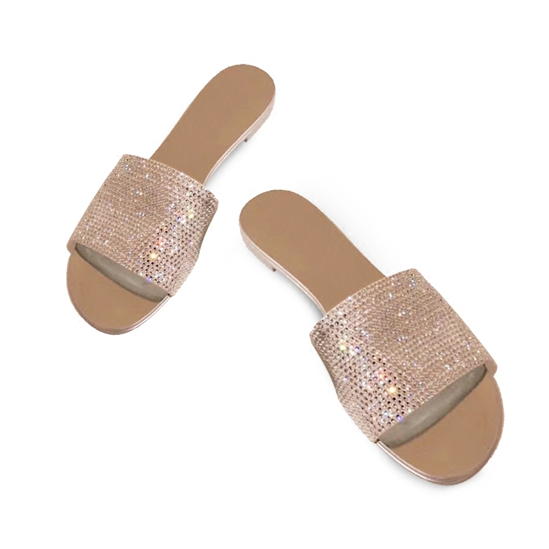 Crystal Diamond Slippers Summer Women Slippers Bling Beach Slides Flip Flops Ladies Sandals Casual Shoes Slip On Slides M069 xiaying smile summer woman sandals square heel women slippers slides shoes women pumps fashion casual bling crystal women shoes