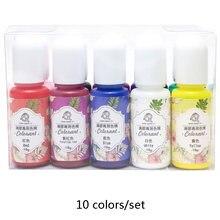 10 цветов/комплект эпоксидной смолы пигментные чернила УФ Смола