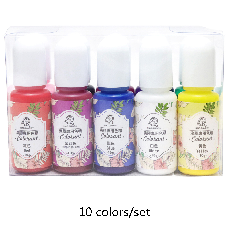 10colors/set  Epoxy Resin Pigment UV Resin Coloring Dye Colorant Resin Pigment DIY Handmade Crafts Art Sets