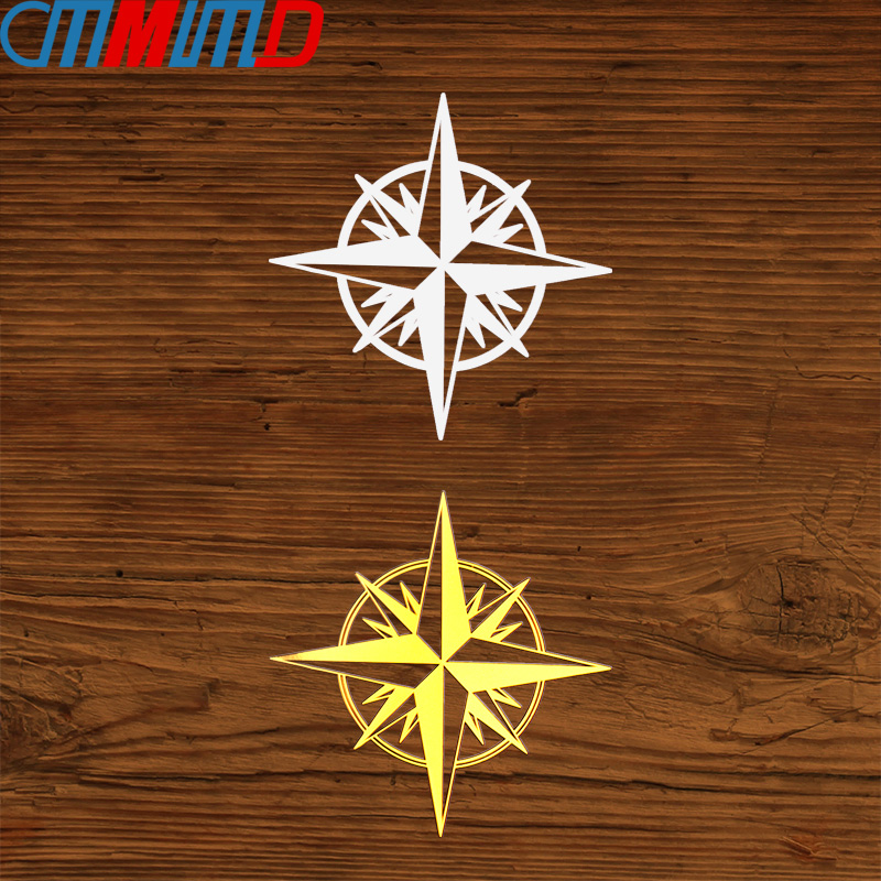 3D Metal Nickel  Compass Travel Wanderlust Direction Car Stickers For Mobile Phone Motorcycle Decoration Decals Car Styling