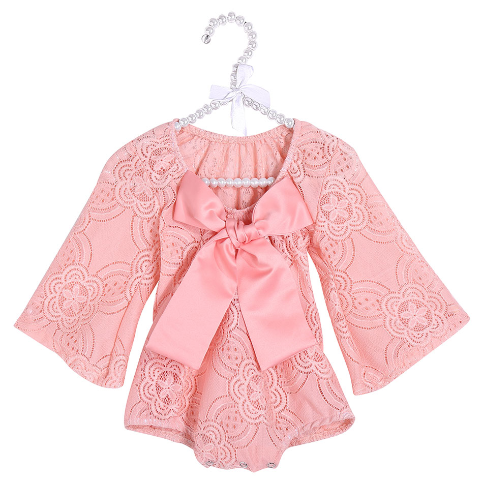 Newborn Baby Clothes Infant Baby Girl Clothes Bodysuit Lace Cotton Jumpsuit Baby Rompers Ropa Bebe Kids Children Clothing