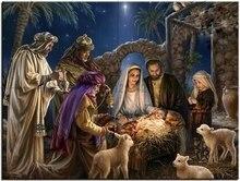 New DIY 5D Diamond Painting Birth Of Jesus Christ Cross Stitch Rhinestone Crystal  Embroidery Full Home Decor