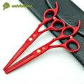 """6 """"japón de alta calidad tijeras de peluquería productos profesionales de peluquería pelo caliente scissosrs herramienta de corte de pelo adelgazamiento tijeras de peluquero"""