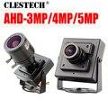 Маленькая мини-камера CCTV AHD  5MP  4MP  3MP  1080P  SONY-IMX326  металлическая маленькая HD камера  Цифровая микро камера с кронштейном  2019