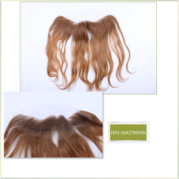 #2780 16 inches top Quality Womens Accessories Ombre Color Natural Wave Hair Pieces Soft Hair Closure