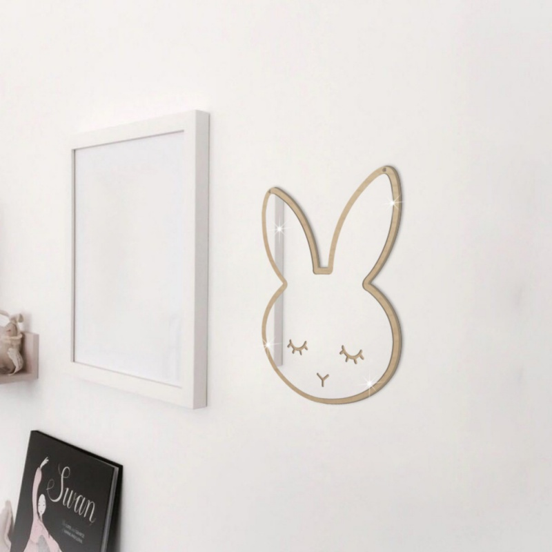 Wall Hanging Mirror Decor For Baby Room Childrens Creative Decoration Bunny Wall Mirror Home Furnishing